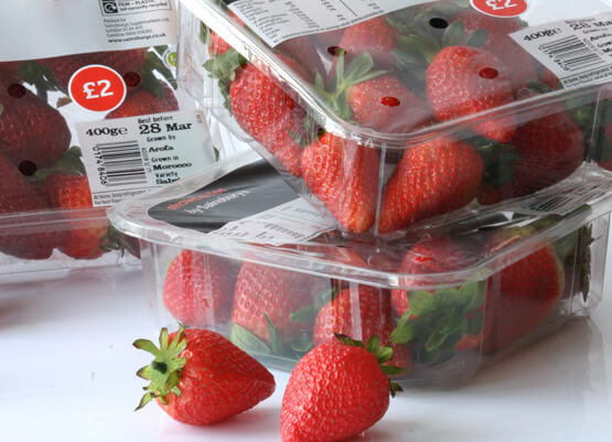 Strawberries in a punnet